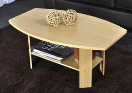 Table basse Home double plateau - Couleur : bois clair (hêtre)