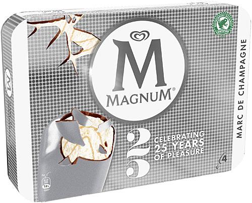 Glaces Magnum Silver Marc de champagne (50% sur carte fidélité)