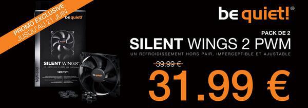 Pack de 2 ventilateurs be quiet! Silent Wings 2 PWM