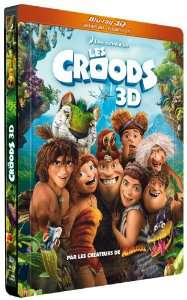 Combo Blu-ray 3D + Blu-ray + DVD Les Croods - Edition Steelbook