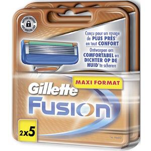 10 Lames Fusion Proglide Gilette (2 Lots de 5)