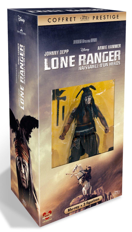 Coffret Blu-Ray Lone Ranger - Film + 2 Figurines - Coffret édition exclusive