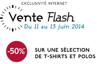 50% de réduction sur une sélection de T-Shirts et Polos