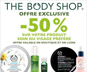 -50% sur votre produit soin du visage préfèré