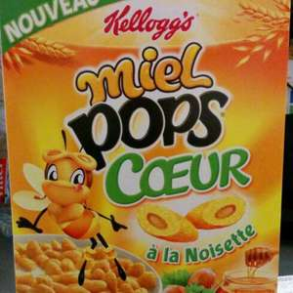 Céréales Kellogg's Miel Pops coeur à la noisette