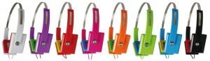Casque stéréo Zumreed Square Style vert, orange, rouge, noir, violet, bleu ou rose