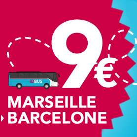 Aller simple Marseille > Barcelone en bus