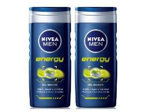 Lot de 2 shampooing-douche Nivea Men Energy 250 ml