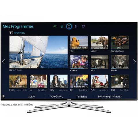 """10% de réduction supplémentaire sur les nouveautés 2014 - Ex : TV LED 48"""" Samsung UE48H6200 - Full HD, Smart TV, 3D"""