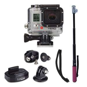 Pack camera GoPro Hero3 white edition + adaptateur Tripod + perche Xsories U-shot