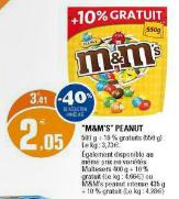 Paquet de M&M's 550 gr (40% de remise immédiate)