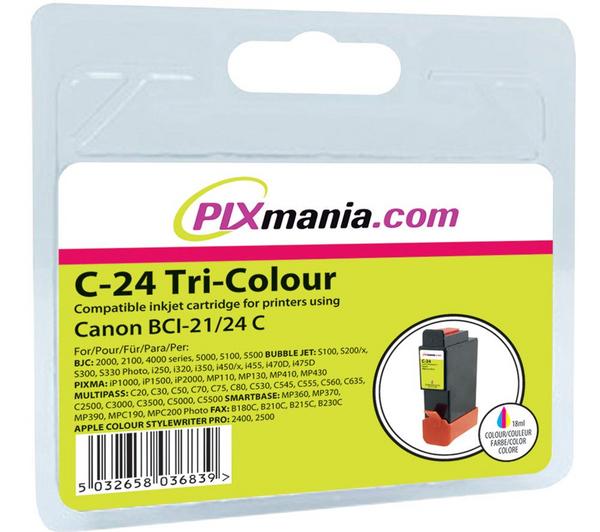Cartouche d'encre tricolore C-24 compatible Canon BCI-21/24 C
