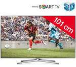 "TV LED 3D Samsung 40"" - 40F6500 Smart TV, WiFi, Ethernet, TimeShift"