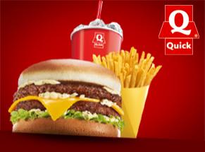 Le même burger offert à l'achat d'un menu XL
