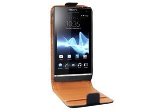 Étui flip cuir véritable SWISS CHARGER pour Sony Xperia S (Nozomi) (autres modèles voir description)