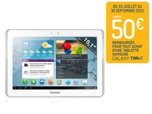 SAMSUNG  Galaxy Tab 2 - 10.1'' - 16 Go (avec ODR de 50€) Blanc