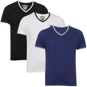 Lot de 3 t-shirts col V 55 Soul (Taille L uniquement)