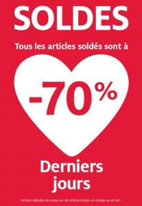 -70% sur tout les articles soldés
