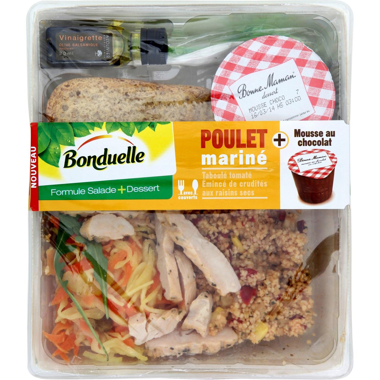 Formule salade + dessert Traiteur Bonduelle