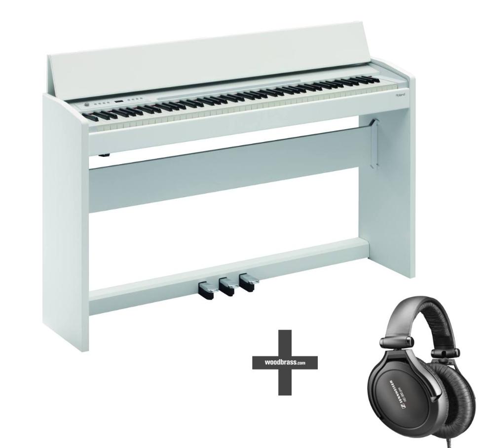 Piano numérique Roland F120 WH (blanc) + Casque Sennheiser HD380