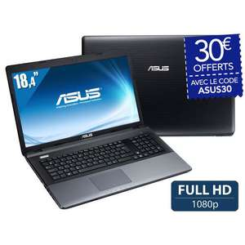 PC Portable ASUS - A95VB-YZ085H Ecran 18,4'',  i7, RAM 4 Go, GT 740M