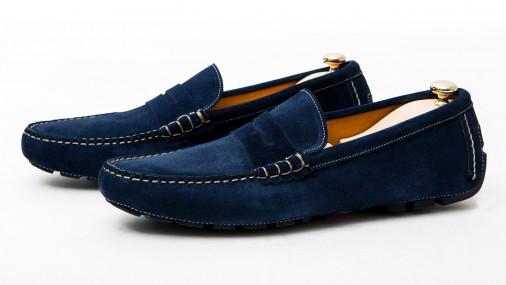 Ventes privées chaussure Markowski - Ex: Mocassion Car Moc bleu