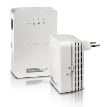 Pack de 2 adaptateurs CPL Ethernet 200 Mbit/s Avec Wifi 300 N integre Homeplug AV 1 port