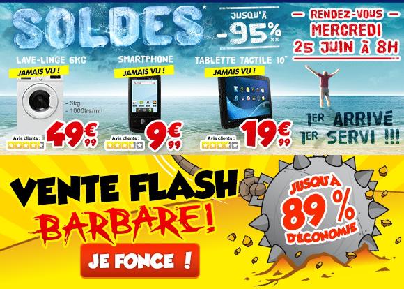 """dès 8h - Lave-linge Oceanic LL610DD à 49.99€, Tablette 10,1"""" Logicom 4Go à 19.99€ et Smartphone Tecmobile You 25"""