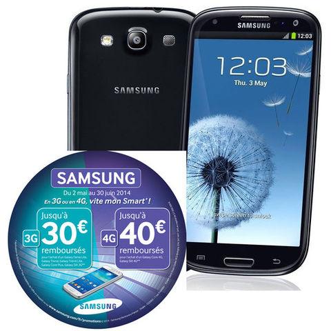 Smartphone Samsung Galaxy S3 LTE 4G Sapphire Black i9305 (avec ODR de 40€)