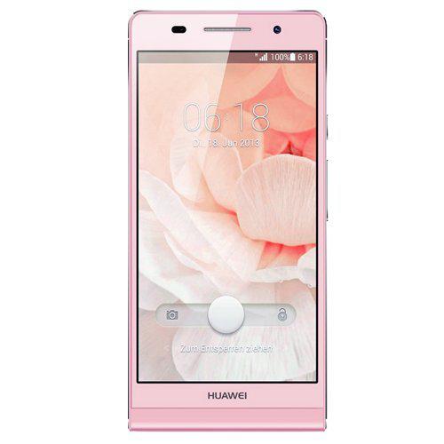 """Smartphone 4,7"""" Huawei Ascend P6 Android 4.2, 8 Go, Bluetooth, Rose (avec ODR de 70€)"""