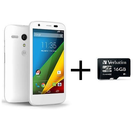 "Smartphone 4,5"" Moto G 4G LTE 8 Go + Carte SD 16Go Classe 10 + Bon d'achat de 15€"