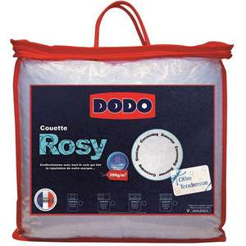 Couettes légères Dodo Rosy à -50% (plusieurs tailles) - Ex : 200x200