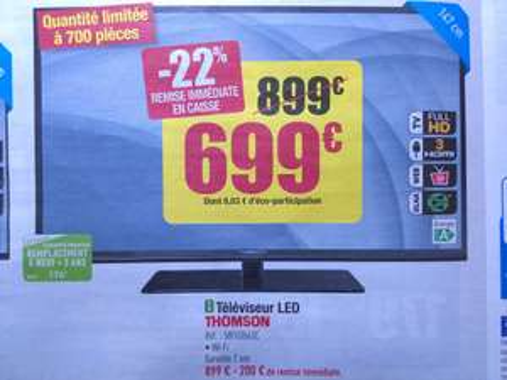 "Téléviseur Thomson 58"" LED  Full HD"