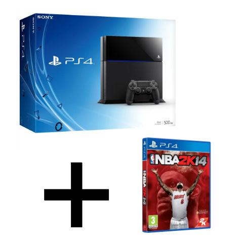 Console Playstation 4 500 go + Jeu NBA 2K14 offert