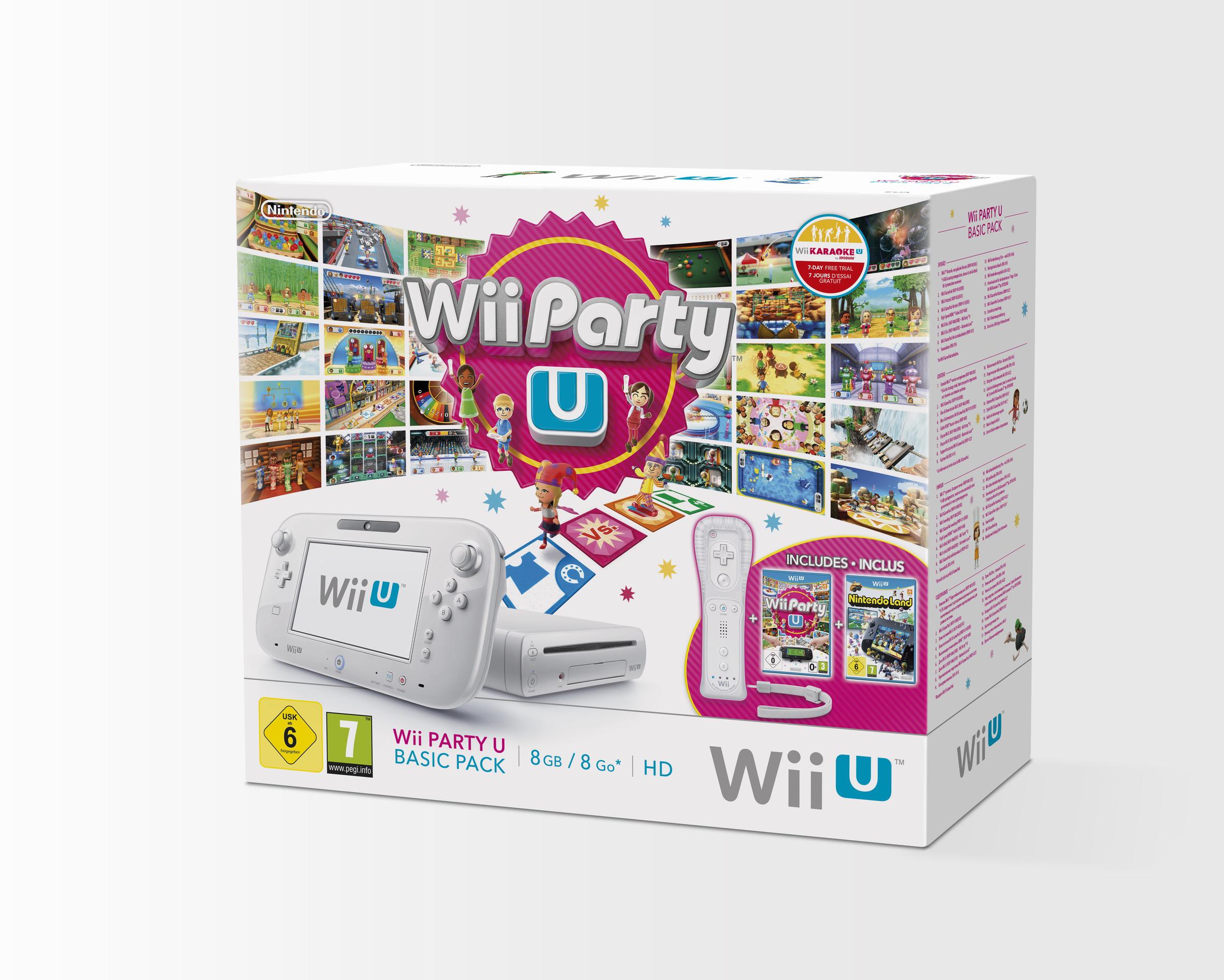 Console Wii U 8 Go Blanche + Wii Party U + Wiimote Plus