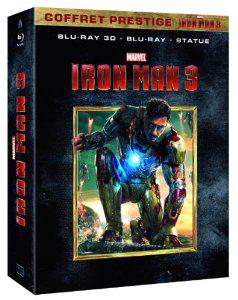 Coffret prestige Iron Man 3 (Blu-ray + Blu-ray 3D + la statuette à monter) - Edition exclusive