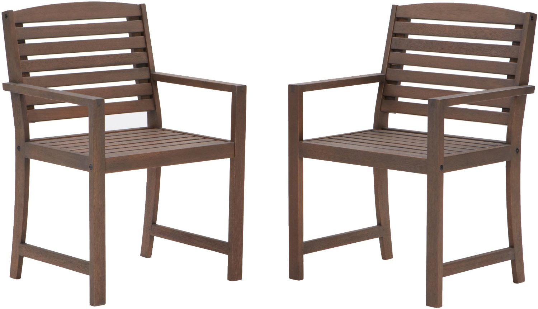 Lot de 2 fauteuils en bois dur Strathwood Vashon
