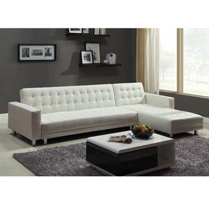 Canapé d'angle droit convertible Cocoon - Blanc