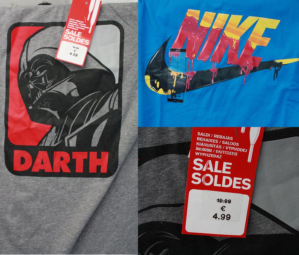 Promotion sur une sélection de T-Shirt (Adidas, Nike, etc), l'unité