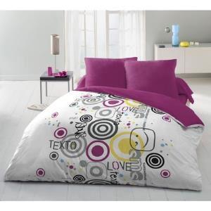 Sélection de housses de lit en promo - Ex : Parure Housse SMS Texto 220x240cm + 2 Taies