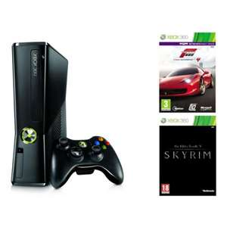 Console Xbox 360 250 Go avec Skyrim et Forza motorsports 4