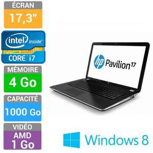 "Ordinateur portable 17.3"" HP Pavilion 17-E114SF - Core i7-3632QM, 4 Go RAM, 1 To (avec ODR 100€)"