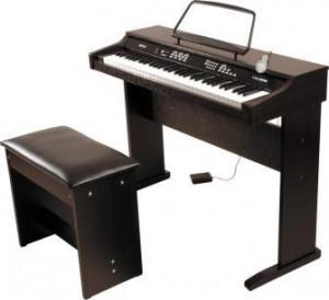 Clavier enfant Delson NP10 ROSEWOOD + Banquette + Micro + Pédale avec code promo