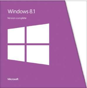 Logiciel d'exploitation Windows 8.1 version complète