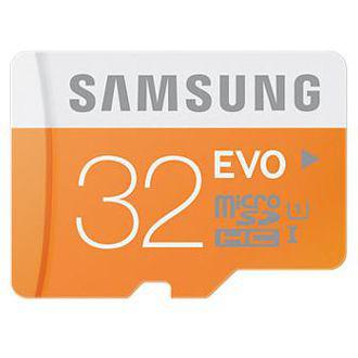 Carte Mémoire Micro SD Samsung 32Go Evo Class 10