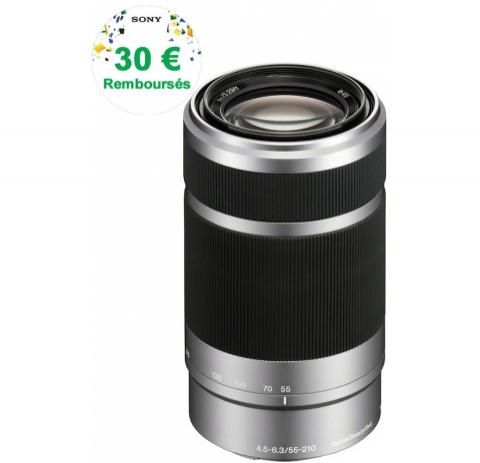 Objectif sony SEL 55-210mm pour monture E Sony Nex et alpha5000/6000 (avec ODR de 30€)