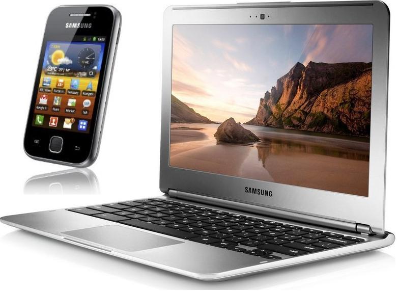 "PC Samsung Chromebook 11,6"" 16 Go + Téléphone Galaxy Y Gris"