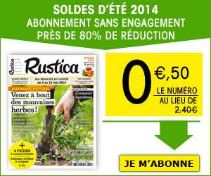 Abonnement mensuel au magazine Rustica