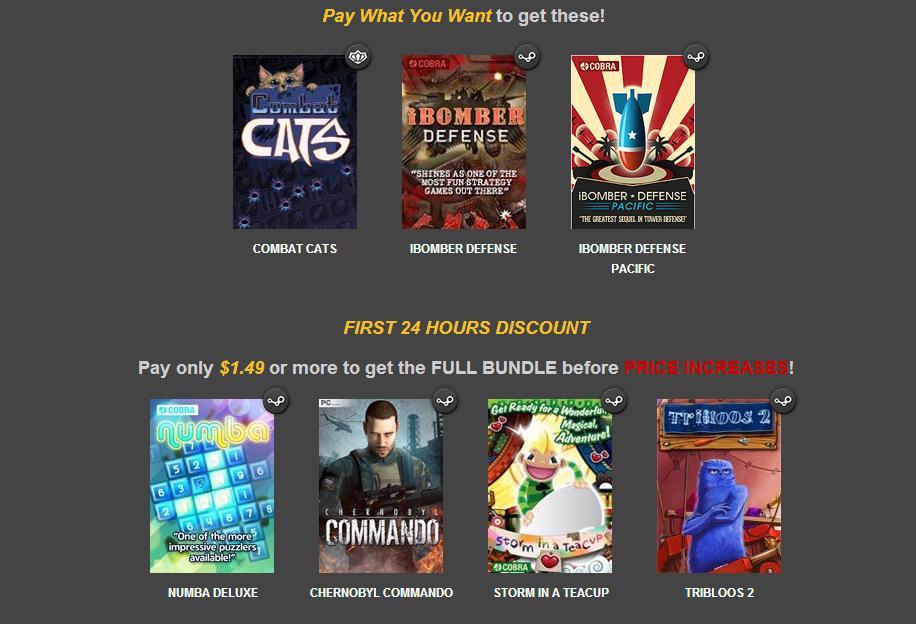 Friday Special Bundle 4 : 3 jeux sur PC (Dématérialisé - Steam/Greenlight)