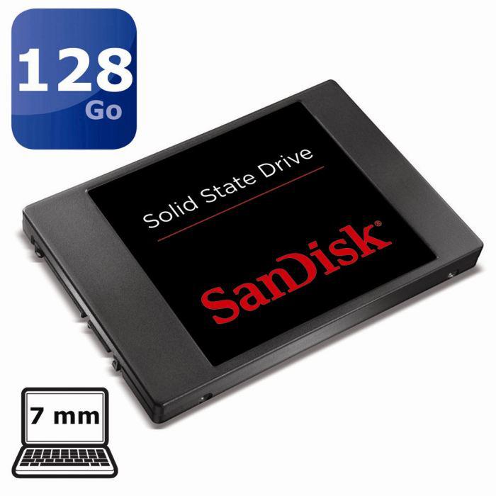 """SanDisk 128 Go SSD 2.5"""" 7mm - Mémoire Flash 19nm"""